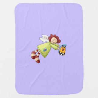 国の庭の天使のラベンダーの紫色 ベビー ブランケット