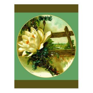 国の庭の景色 ポストカード