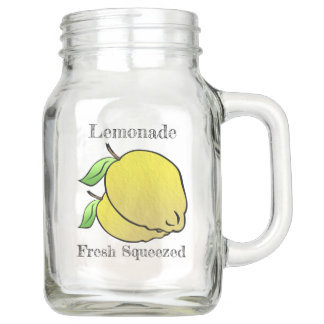 国の新しい絞られたレモネード(名前入りな) メイソンジャー
