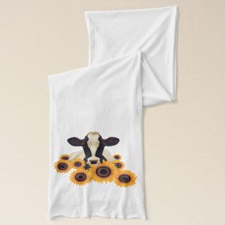 国の牛およびヒマワリ スカーフ