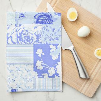 国の甘いヤグルマギクの青 キッチンタオル