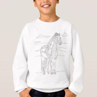 国の生きている馬 スウェットシャツ