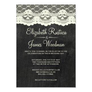 国の石板の結婚式招待状 12.7 X 17.8 インビテーションカード