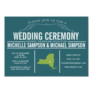国の素朴な州の結婚式招待状 カード
