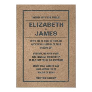 国の素朴な結婚式招待状 カード