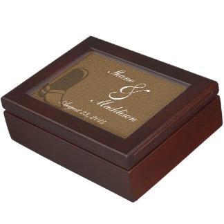 国の結婚式のテーマの記念品箱 ジュエリーボックス