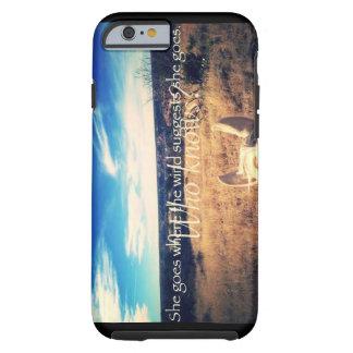 国の西部の女性のカーボーイの馬のiPhone 6/6sの場合 iPhone 6 タフケース