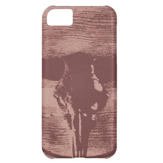 国の西部の長角牛のBullのスカルのカウボーイのギフト iPhone5Cケース