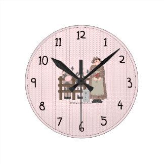 国の農場の柱時計 ラウンド壁時計
