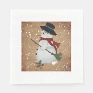国の雪だるまの紙ナプキン スタンダードランチョンナプキン