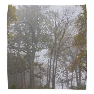 国の霧深い秋の朝 バンダナ