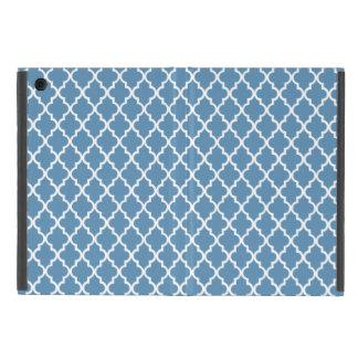 国の青い格子垣のプレッピーなクローバーのモトッコ人 iPad MINI ケース