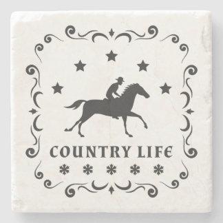 国の馬のスタンプ ストーンコースター