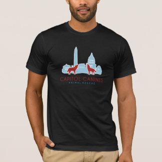 国会議事堂のイヌ科動物の動物の救助のTシャツ Tシャツ