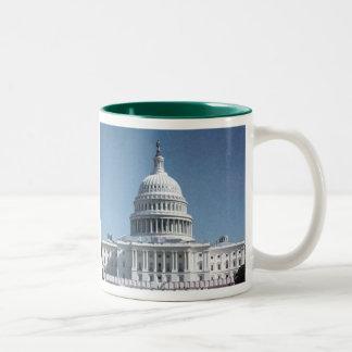 国会議事堂のドーム ツートーンマグカップ