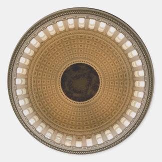国会議事堂のドーム、ワシントンD.C.、の天井、 ラウンドシール