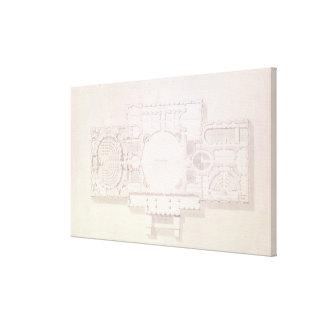 国会議事堂の主な物語の計画、 キャンバスプリント