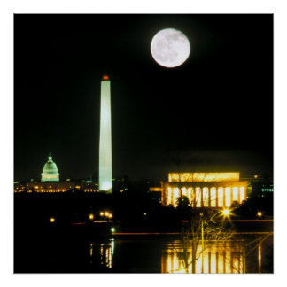 国会議事堂の建物、リンカーン記念館、ワシントン州 ポスター