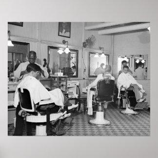 国会議事堂の理髪店、1938年のヴィンテージの写真 ポスター