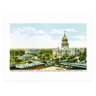 国会議事堂の百年間の建物、スプリングフィールド、イリノイ ポストカード
