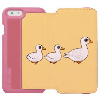 国内アヒルのアヒルのガチョウ iPhone 6/6Sウォレットケース