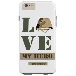 """国内戦線のGirl™のブランド""""愛私の英雄""""のデザイン Tough iPhone 6 Plus ケース"""
