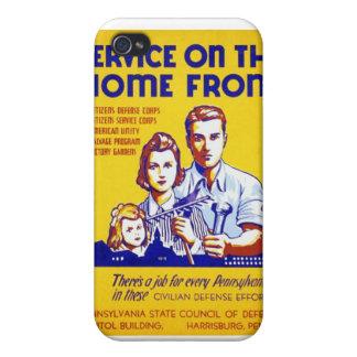 国内戦線WPAポスターのヴィンテージサービス iPhone 4/4S CASE