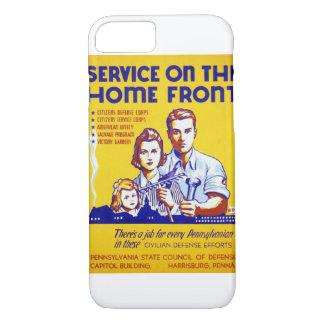 国内戦線WPAポスターのヴィンテージサービス iPhone 8/7ケース