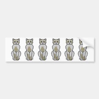 国内Mediumhair猫の漫画 バンパーステッカー