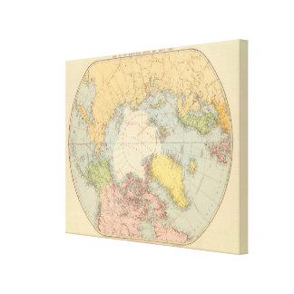 国円形の北極 キャンバスプリント