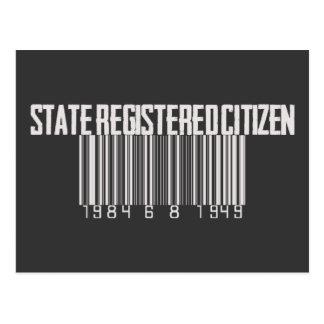 国家によって登録されている市民 ポストカード