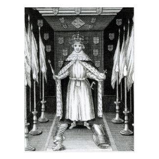 国家に立っているオリバー・クロムウェル; ポストカード