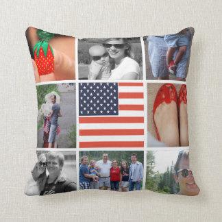 国家の米国旗のInstagramの1つの枕 クッション