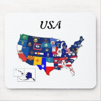 国家はマウスパッドに印を付けます マウスパッド