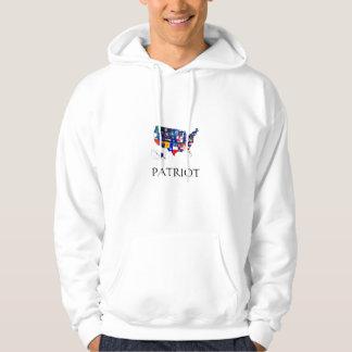 国家は愛国者のフード付きスウェットシャツに印を付けます パーカ