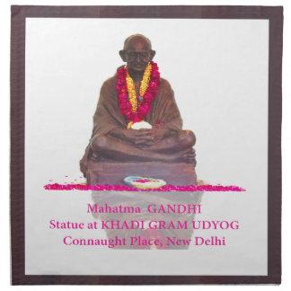 国家インドのMahatma Gandhiの父 ナプキンクロス