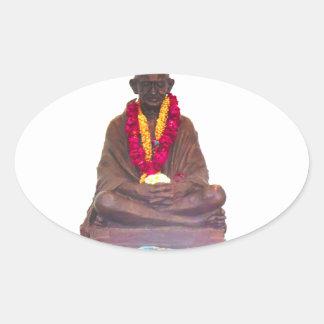 国家インドのMahatma Gandhiの父 楕円形シール