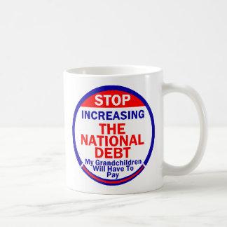 国家債務のマグ コーヒーマグカップ