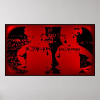 国家債務2012年-16人の兆ドルのベビー ポスター