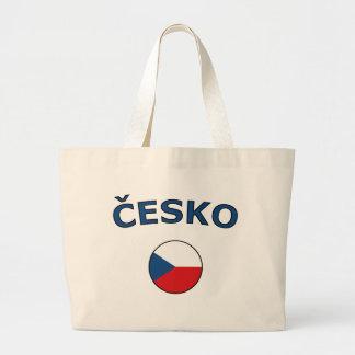 国家円チェコ語 ラージトートバッグ