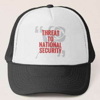 """""""国家安全保障への脅威"""" キャップ"""