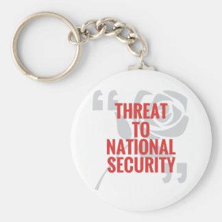 """""""国家安全保障への脅威"""" キーホルダー"""