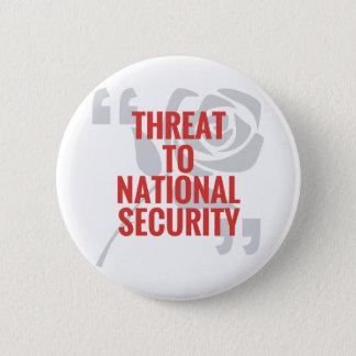 """""""国家安全保障への脅威"""" 5.7CM 丸型バッジ"""