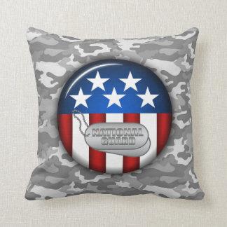 国家警備隊の紋章の迷彩柄のカムフラージュ#1 クッション