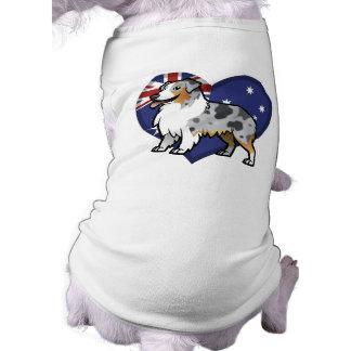 国旗のかわいくカスタマイズ可能なペット 犬用袖なしタンクトップ