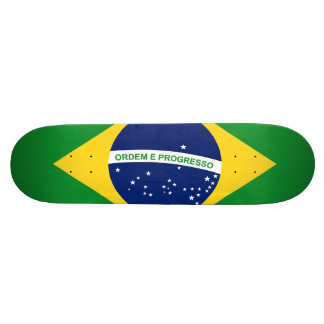国旗ブラジル連邦共和国 21.6CM オールドスクールスケートボードデッキ