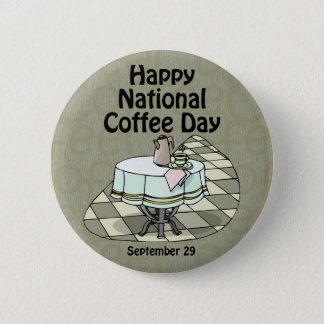 国民のコーヒー日9月29日 5.7CM 丸型バッジ