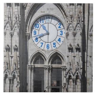 国民のバシリカ会堂、エクアドルの時計台 タイル