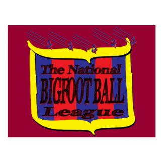 国民のビッグフットの球リーグ星の盾 ポストカード
