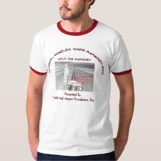 国民の青年ホームレスの認識度月 Tシャツ